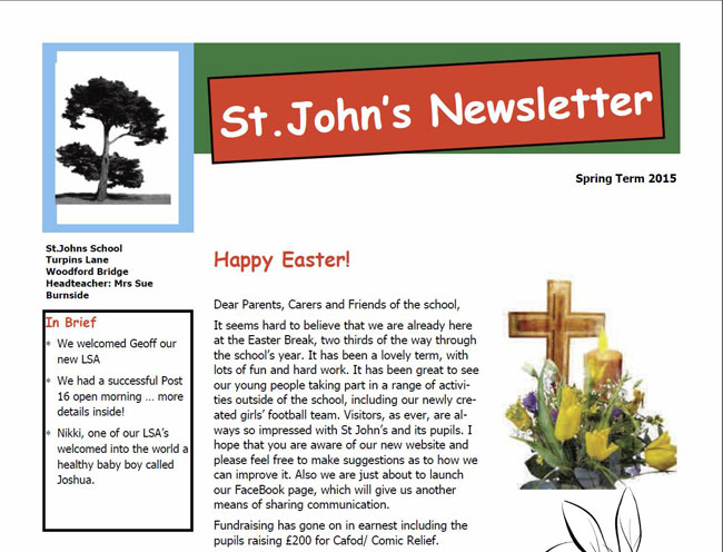 Download our Newsletter Spring Term 2015