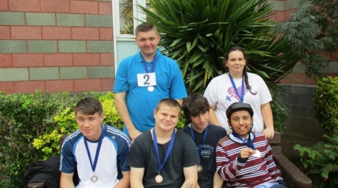Proud Medal Winners Kara, Brian Abidul, Paul, Aaron And Billy.