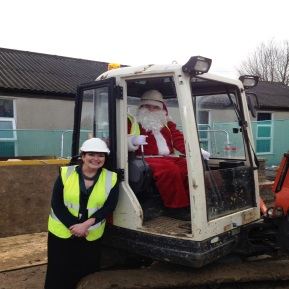 Father Christmas Visits Our New Building